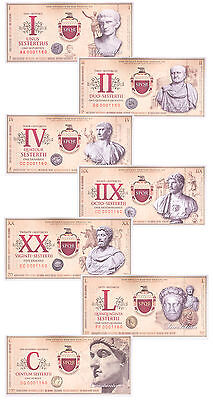 (2007) Roman Empire Fantasy Banknotes 7-Piece Set SKU47184