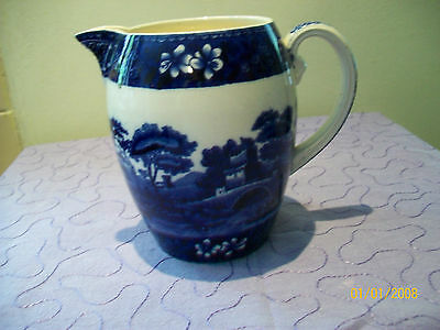 Large Copeland Spodes Tower Jug blue and white