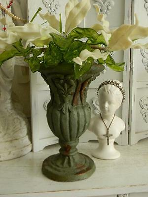 Fabulous Shabby Hand Turned French Garden Urn~Perfect Home Decor