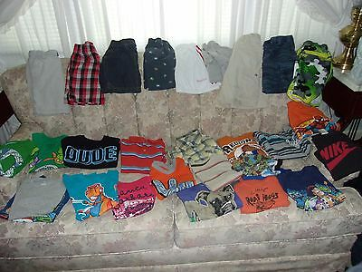 boys summer clothes lot 4 toddler shorts and tops