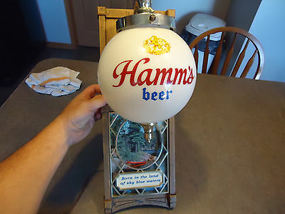 Hamms Beer advertising bar sign  globe light vtg 1950-1960 gas oil man cave