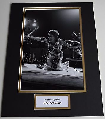 Rod Stewart SIGNED autograph 16x12 photo display Music Memorabilia AFTAL & COA