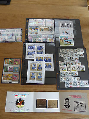 UAE States Interesting batch of stamps and miniature sheets