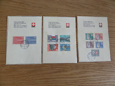 Switzerland 1957 sets used on special souvenir sheets