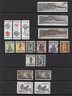 POLAND STAMPS  5 COMPLETE SETS 1960/70s  USED