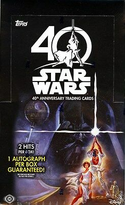 2017 Topps Star Wars 40Th Anniversary Hobby 8 Box Case Blowout Cards