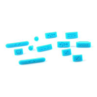 Blue Universal Silicone Anti Dust Plug Cover Set for Apple Macbook Air/Retina
