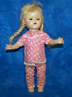 Vintage Vogue Ginny Cosmo Ginger Muffie Pink White Flowers Pajama Top Pants
