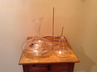 In box Mikasa Metropolitan crystal wine decanter and diffuser decanting set