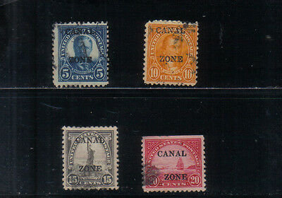 Canal Zone 1925-28 Four values to 20c used