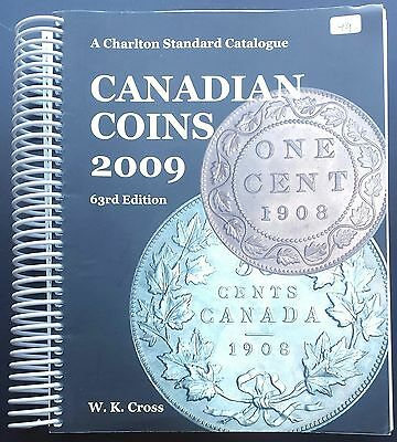 2009 Charlton Standard Catalogue of Canadian Coins, 63rd Edition, 2009, WK Cross