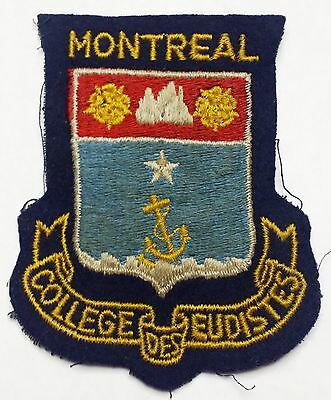 Vintage Montreal College des Eudistes Insignia Patch / Badge - Free Combined S/H