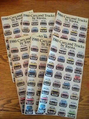 1980 Toyota Dealer Sales Brochure LOT (6) pcs, Celica Supra Land Cruiser 24 pgs