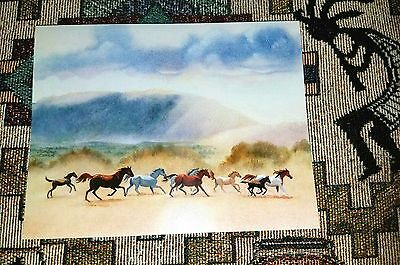 Running Horses Desert Note Cards