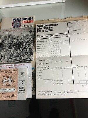 England V West Germany World Cup Final 1966 Ticket Holder And Information Bookle