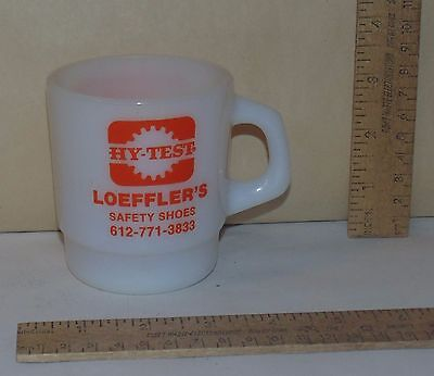 HY-TEST LOEFFLER'S SAFETY SHOES - Advertising Glass Stacking MUG by GALAXY