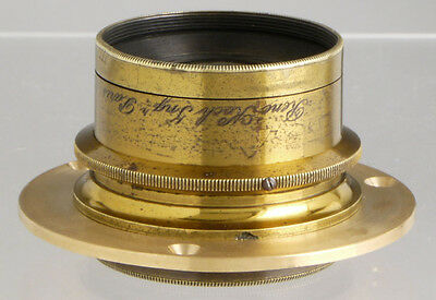 antique Koch Paris wideangle French brass lens for wood Plate Field cameras_ ULF