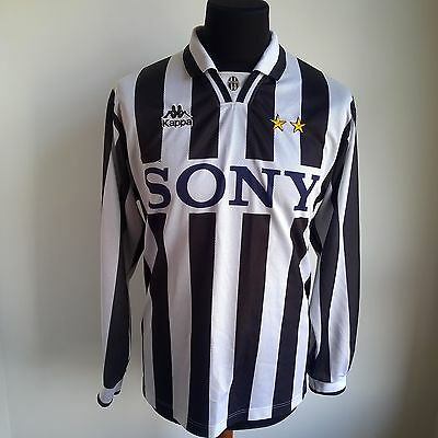 Juventus 1995 Home Football Shirt L/s Kappa Jersey Size Adult L