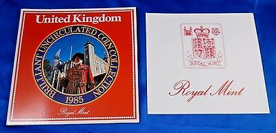 1985 United Kingdom Brilliant Uncirculated Coin Collection Royal Mint