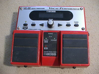 Boss VE-20 Vocal Processor effects pedal, untested