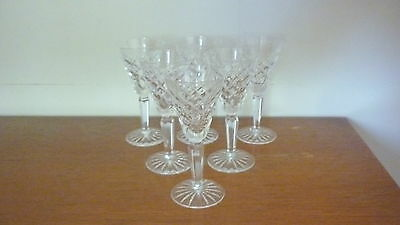 Six Waterford Crystal Comeragh Sherry Glasses