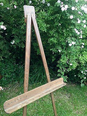 Vintage Retro Large French Wooden Artist Easel