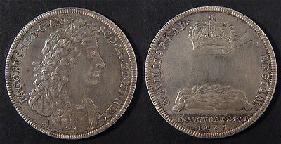 ENGLAND, James II 1685 Coronation medal in silver, lovely, EF and rare.