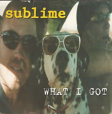 "SUBLIME - What I Got - UK 7"" single on yellow vinyl (NM-/Ex)"