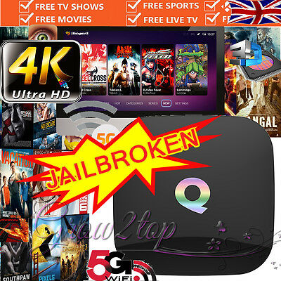 2017 Player Quad Core Android 6.0 Q TV Box 4K Ultra HD Media Player UK SELLER