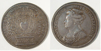 GB. Anne, 1702 Silver Accession medal, 8th March 1702.  36mm, gVF.