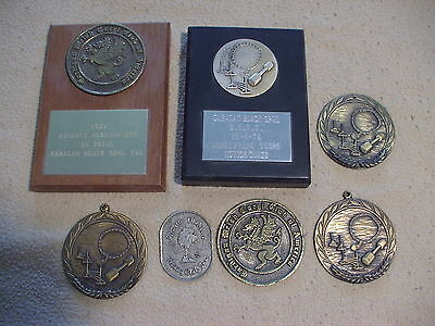 Cardigan Welsh Corgi & other dog club awards and medallions, 1970s