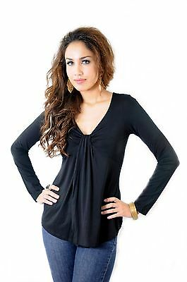 Annee Matthews Maternity and Nursing Blouse Black Flynn Size Small