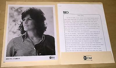 Donna Fargo Country Music Singer ABC Dot Records Press Release Photo Bio Lot