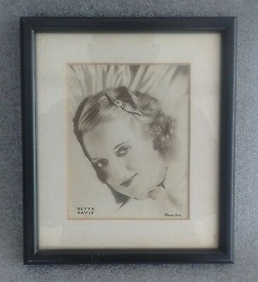 Framed Bette Davis Joan Crawford + 46 other original 1930s Hollywood Star prints