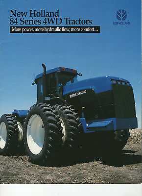 New Holland 84 Series 4Wd Tractor Sales Brochure