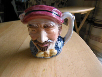 Unmarked Toby Jug Artist Character 3.5'' Tall Ceramic Ornament