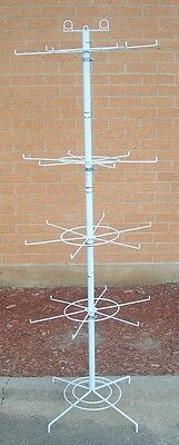 """Store Fixture Supplies  FLOOR MODEL SPINNER RACK with 24 Pegs 62"""" tall WHITE"""
