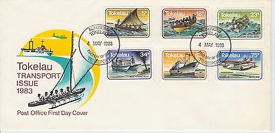 First day cover, Tokelau, Scott #91-96, Transport , 1983