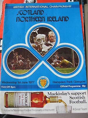 1.6.1977 Scotland v Northern Ireland British Championship @ Hampden Park