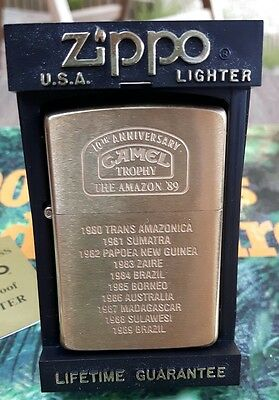 """Rare Camel Trophy Zippo """" The Amazon 89 """",  Made In 1989"""
