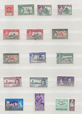 Gilbert And Ellice Islands 1918 Onwards Small Collection Mint And Used Hinged
