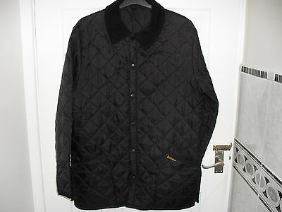 Men's Barbour  Liddesdale  Black Quilted Jacket Size Small  Chest 42