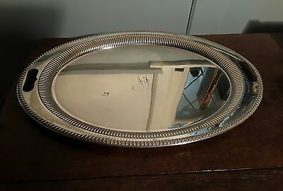 Vintage Jenkins and Timm oval silver plate Tray