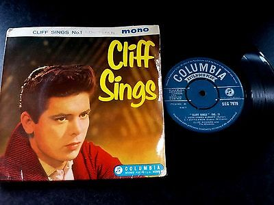 """Cliff Richard """" Cliff Sings No.1 """" 7""""ep (1959) Columbia Seg 7979 Picture Sleeve"""