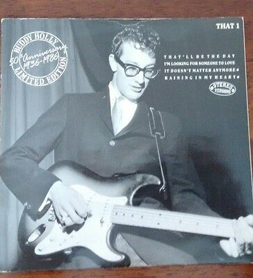 "Buddy Holly : 50th Anniversary (LTD 7"" EP) MCA THAT 1 1986"