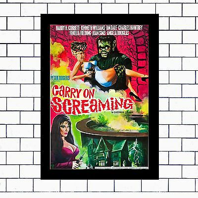 Carry On Screaming- A3/a4 Framed/unframed / T-Shirt /m/l/xl/xxl/ Mugs'