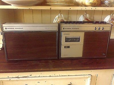 Rare Vintage National Panasonic RS 464S Stereo Portable Cassette Recorder.