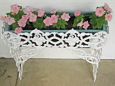 "ANTIQUE 1930's ""MOLLA"" CAST IRON FLOWER BOX PLANTER-MADE IN ENGLAND (Ex. Cond.)"
