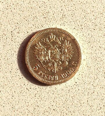 5 Russian Roubles Gold Coin 1904