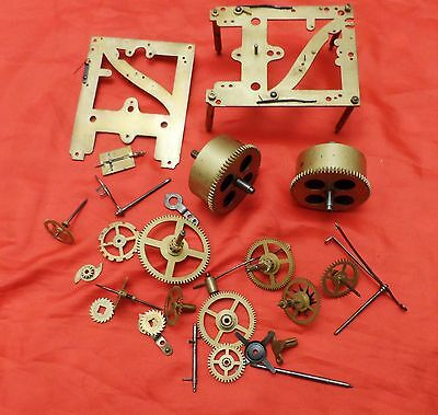 German Kienzle Clock Movements,  Stamped 34 114 1/2. For Parts Only.